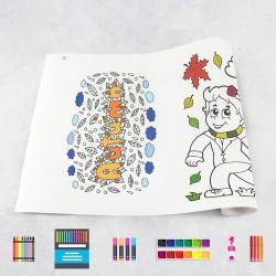 Zeichnungen auf Rolle Herbst