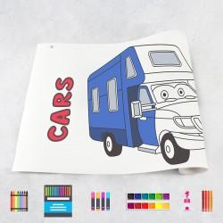 Zeichnungen auf Rolle Autos