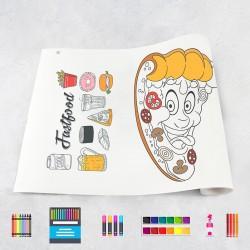 Zeichnungen auf Rolle Fastfood
