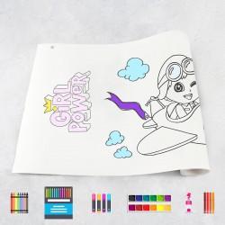 Zeichnungen auf Rolle Mädchen 1