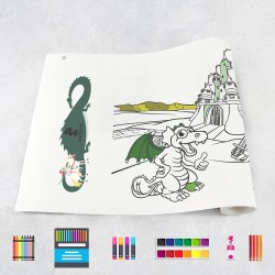 Zeichnungen auf Rolle Ritter