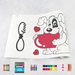 Zeichnungen auf Rolle Herzen