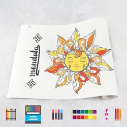 Zeichnungen auf Rolle Mandala