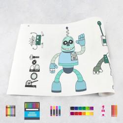Zeichnungen auf Rolle Robots