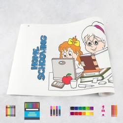 Zeichnungen auf Rolle Schule