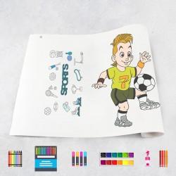 Zeichnungen auf Rolle Sport
