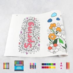Zeichnungen auf Rolle Frühling
