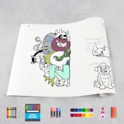 Zeichnungen auf Rolle Zoo