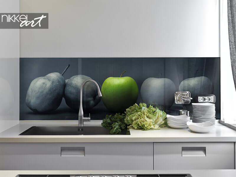 Acrylglas küchenrückwand grünen Apfel