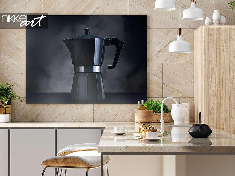 Foto auf Alu-Dibond Kaffeemaschine
