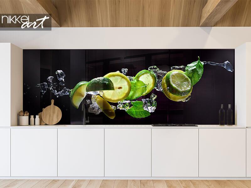 Küchenrückwand glas motiv Mojito