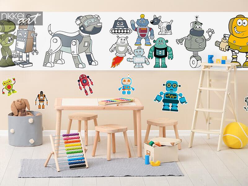 Zeichungen auf Rolle Robots