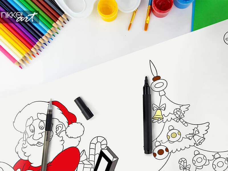 Zeichungen auf Rolle Weihnachten