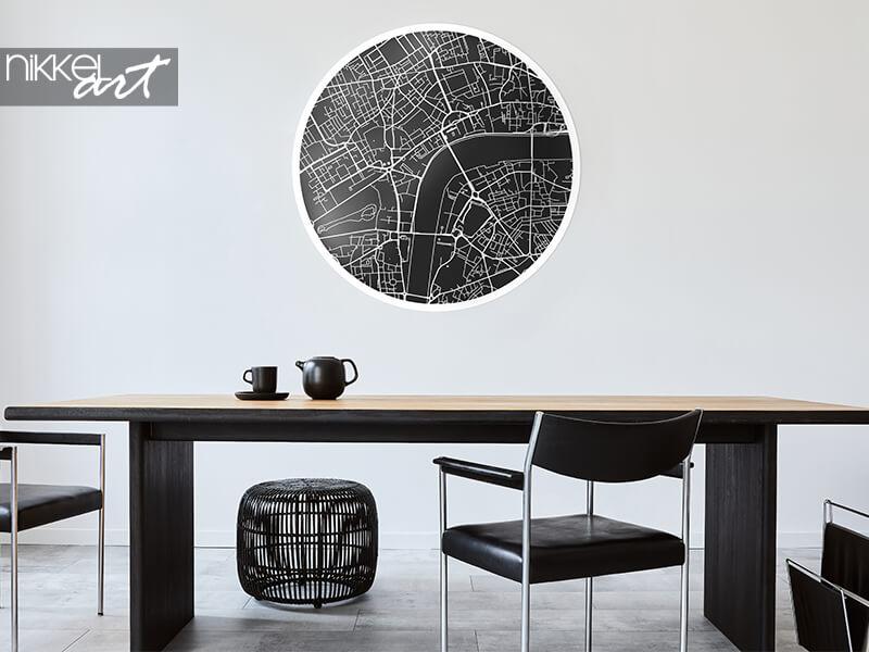 Runde Wanddekoration Wandaufkleber Stadtplan von London
