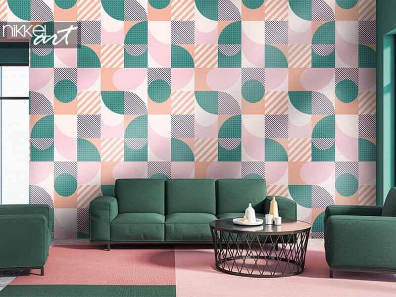 Tapeten buntes geometrisches nahtloses Muster im skandinavischen Stil