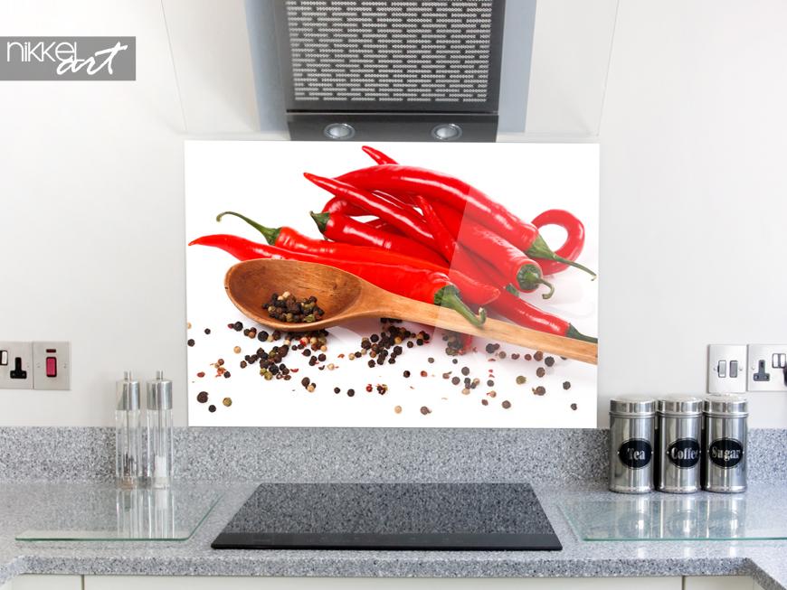 küchenrückwände aus glas mit motiven