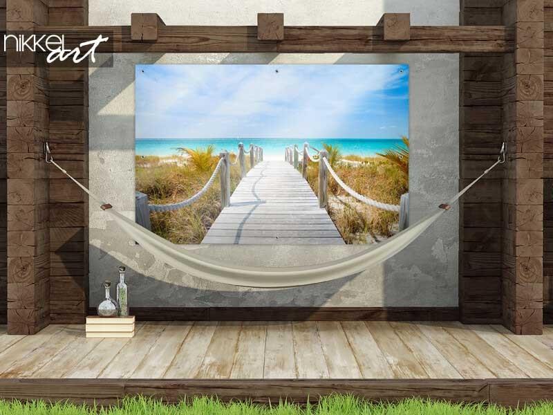 Verschärfen Sie Ihren Patio mit einem Foto auf Gartenposter
