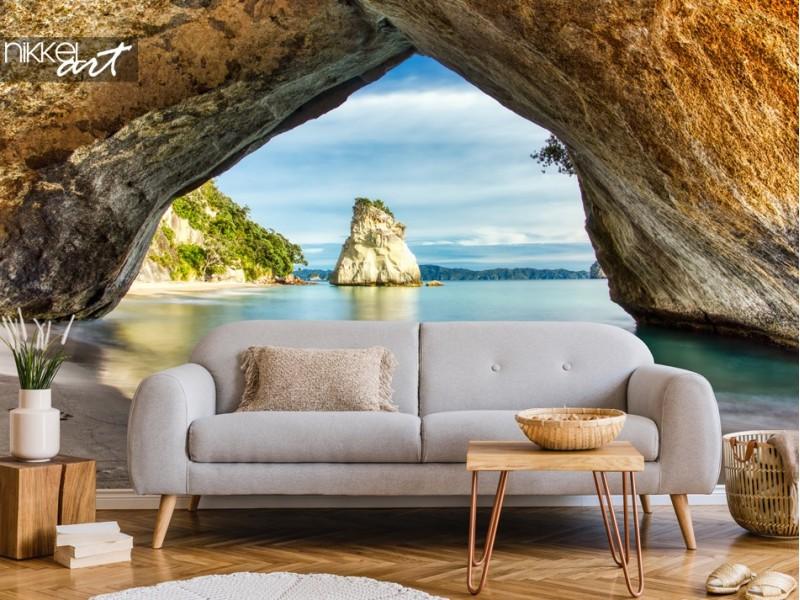 Fototapete Cathedral Cove: Die schönste Bucht der Erde