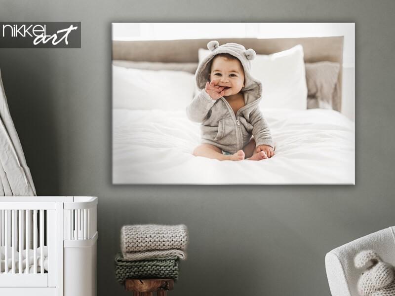 Drucken Sie Ihre Baby- oder Schwangerschaftsfotos auf Leinwand