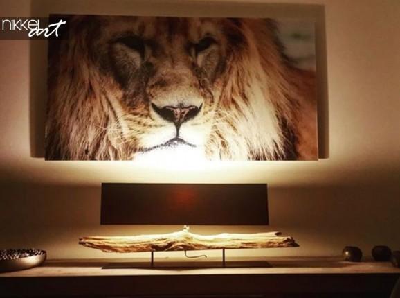 Löwe auf Acrylglas