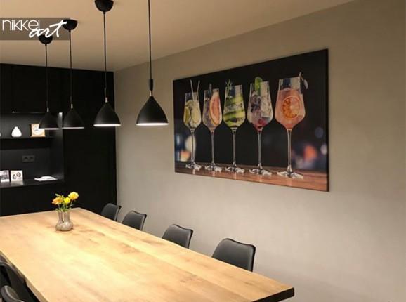 Kundenfoto Esszimmer mit Foto auf Leinwand
