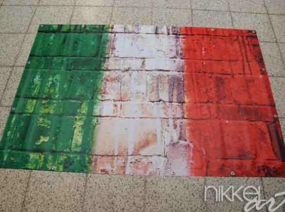 Foto auf Gartenposter Flagge Italien