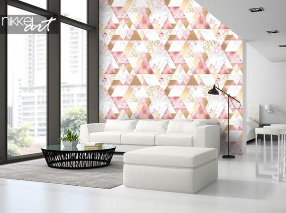 Geometrische Tapete mit Dreiecken