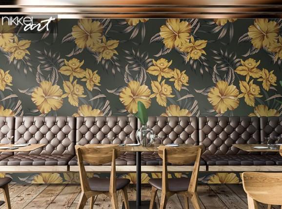 Papier peint avec des fleurs vintage