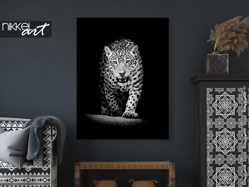 Leopard auf Alu-Dibond