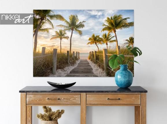 Strandbild auf Alu-Dibond