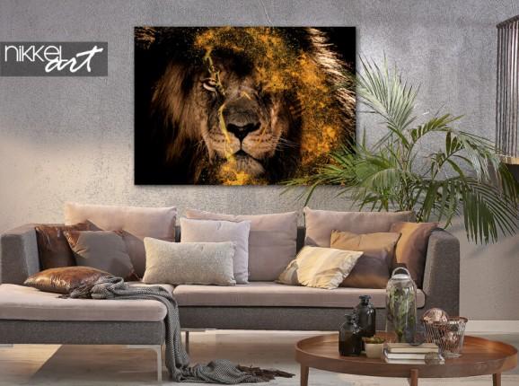 Foto auf Alu-Dibond Fenna van der Vliet - Golden Lion