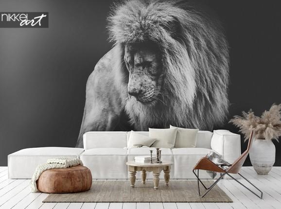 Afrikanischer Löwe auf Fototapete