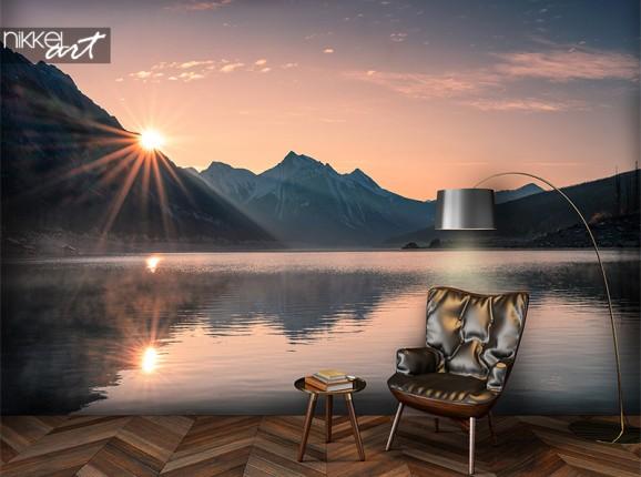Sonnenuntergang auf Fototapete