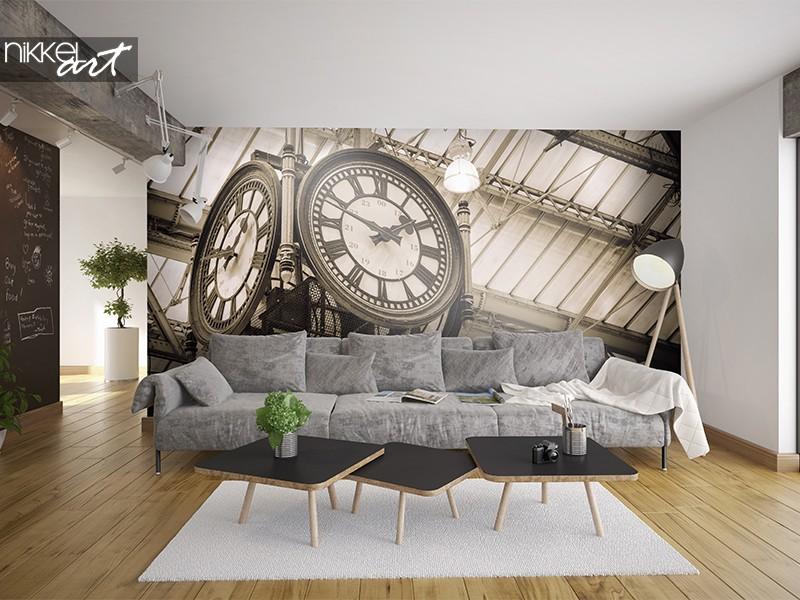 Alte Uhr auf Fototapete
