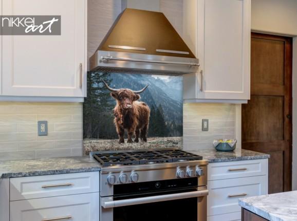 Glas-Küchenrückwand Scottish Highlander