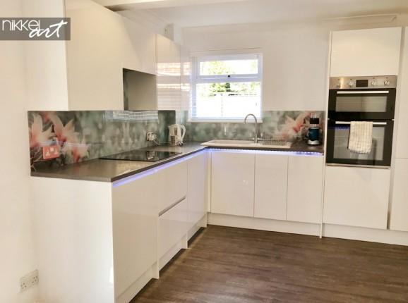 Kundenfoto Acrylglas Küchenrückwand Magnolia