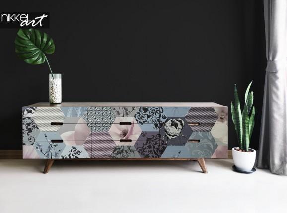 Möbel Aufkleber mit Grafik Druck
