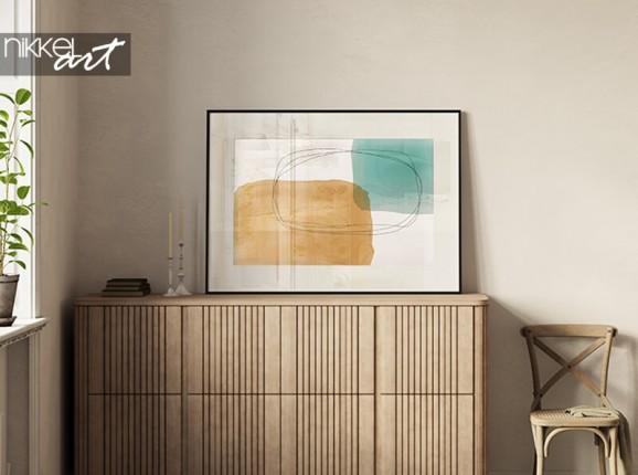 Abstraktes Poster im Rahmen