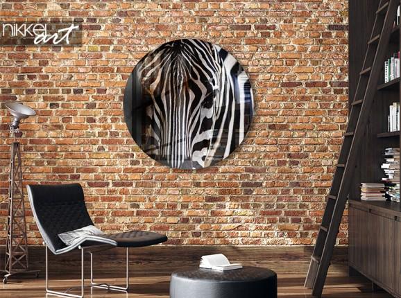 Acrylglaswand Kreis Zebra