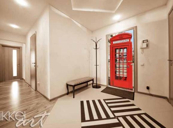 London Aufkleber mit mattem Laminat