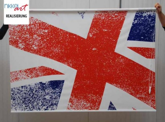 Rollo mit fotodruck union jack flag
