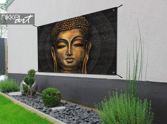 Gartenposter mit Buddha