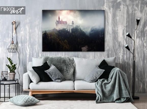 Schloss Neuschwanstein auf Leinwand