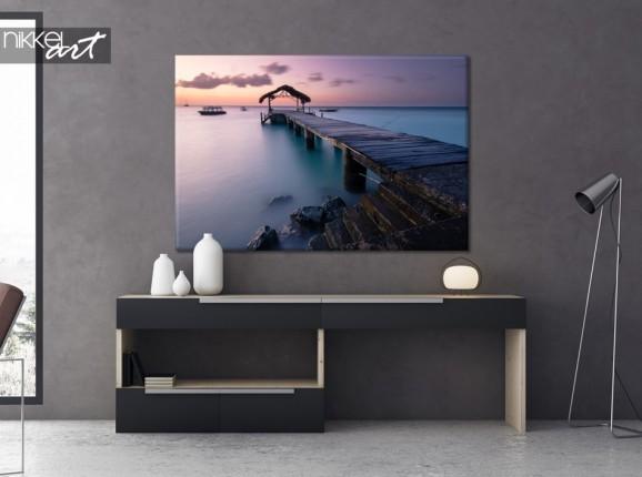 Wohnzimmer mit Foto auf Leinwand Pigeon Point