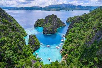 Coron, Palawan, Philippines, aerial view of Kayangan Lake.